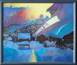 Картина на холсте «Вечерний лучик» Максютин И., масло, 50х60