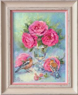 Картина на холсте «Счастье в доме» Молчанова Ю.,  масло, 30х23