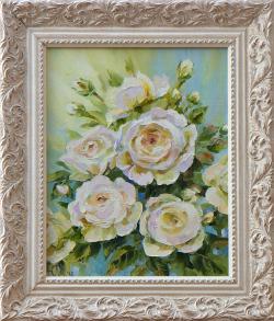 Картина на холсте «Королева сада» Молчанова Ю., масло, 30х25