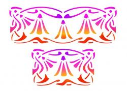 """Трафарет """"Тройные лилии"""", формат А5"""