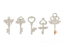 """Декоративный элемент """"Ключи маленького ангела"""" (5 шт.)"""