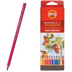 """KOH-I-NOOR Набор высококачественных акварельных  цветных карандашей """"Mondeluz"""", 18 цветов, в картонной  коробке"""