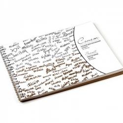 """Сонет Альбом для рисования на пружине, формат 26х38см, бумага """"Серая"""" марка Б, плотность  80г/м2, 50 листов"""
