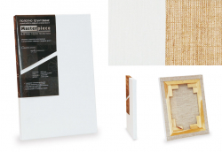 Холст грунтованный на подрамнике, ЛЕН 100%, мелкое зерно, масляный  грунт 45*50