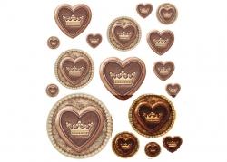 """Декоративные наклейки """"Шоколадная любовь"""""""