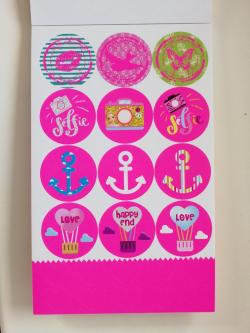 TOPModel Блокнот с наклейками OMG