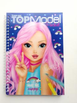 TOPModel Карманная раскраска с 3D обложкой  TOPModel Карманная раскраска с 3D обложкой