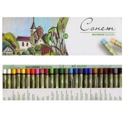 Сонет Набор масляной пастели, 24 цвета