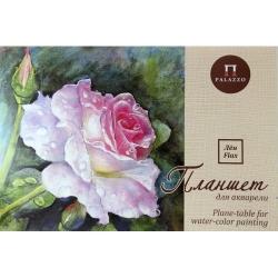 """Планшет для акварели А-3,""""Розовый сад"""", плотность 200 г/м2, палевый """"Лен"""", 20л."""