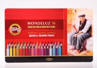 """KOH-I-NOOR Набор высококачественных акварельных цветных карандашей """"Mondeluz"""", 36 цветов, в жестяной  упаковке"""
