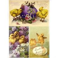 """Декупажная карта """"Easter greetings"""", формат А4"""
