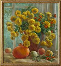 Охримец О. «Осенний натюрморт». Холст, масло 55х50