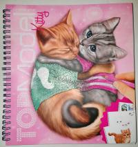 TOPModel Альбом для раскрашивания Создай Котёнка Kitty