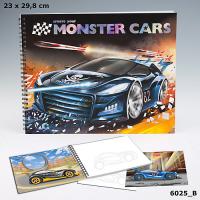 Monster Cars Альбом для раскрашивания Создай крутой автомобиль