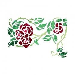 """Трафарет """"Вьющаяся роза"""", формат А4"""
